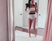 WOMEN 39 S stripped bikini women 39 s high waisted bikini mommy and me swim suits mommy and me bikini matching family swimsuit black white