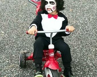 jigsaw romper toddler tuxedo baby tuxbaby suit saw baby costume toddler costumebaby romper halloween costume toddler costume sc 1 st etsy