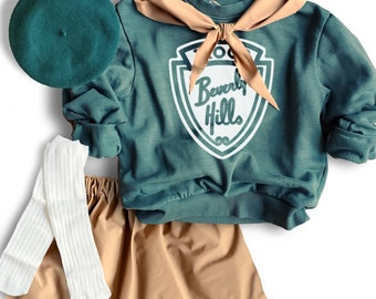 Troop Beverley Hills costume, 90s costume,Halloween Costume, Toddler Costume,Dress Up Clothes, Newborn Costume,girl scout kids costume