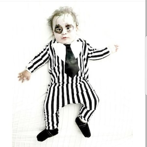 Beetlejuice Inspired Toddler Costume Kids Beetlejuice Etsy