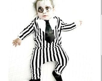 Beetlejuice inspired toddler costume/ kids beetlejuice costume, toddler boy costume/ kids halloween costume/ boy costume/costumes for boys