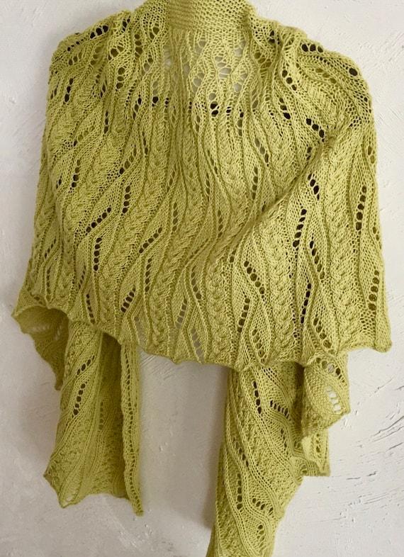 Crescent Shawl Knitting Pattern Spring Freshet Etsy