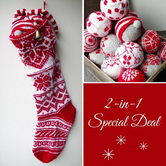 Christmas Stocking Knitting Pattern Free Christmas Bauble Etsy