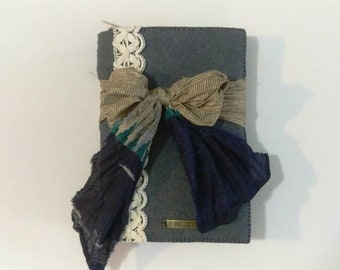 Blank Journal / Art Journal / Junk Journal / Travel Journal / Diary - Wool Felt Binder Style Journal