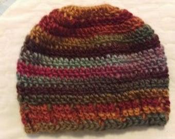 Messy Bun Hat PATTERN - Crochet Pony Tail Holder Style