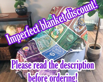 Discounted Imperfect Classic Book Blanket