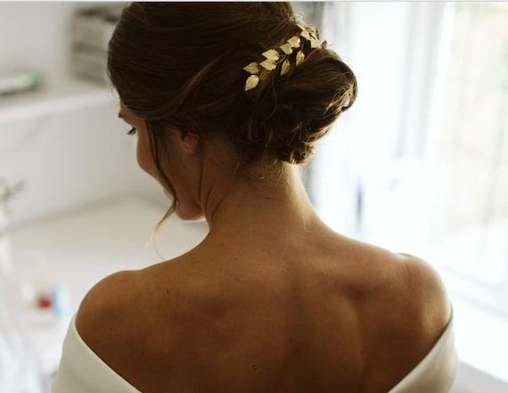 Greek Goddess hair vine bridal leaf hair