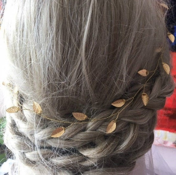 Bridal Hair Vine Leaf Hair Piece Grecian Style Wedding Etsy