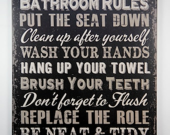 After yourself etsy - Clean up after yourself bathroom signs ...