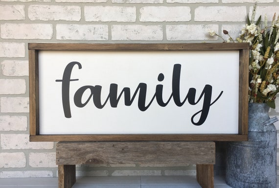Family Sign Rustic Farmhouse Sign Country Wood Signs Home Decor Gift For Her
