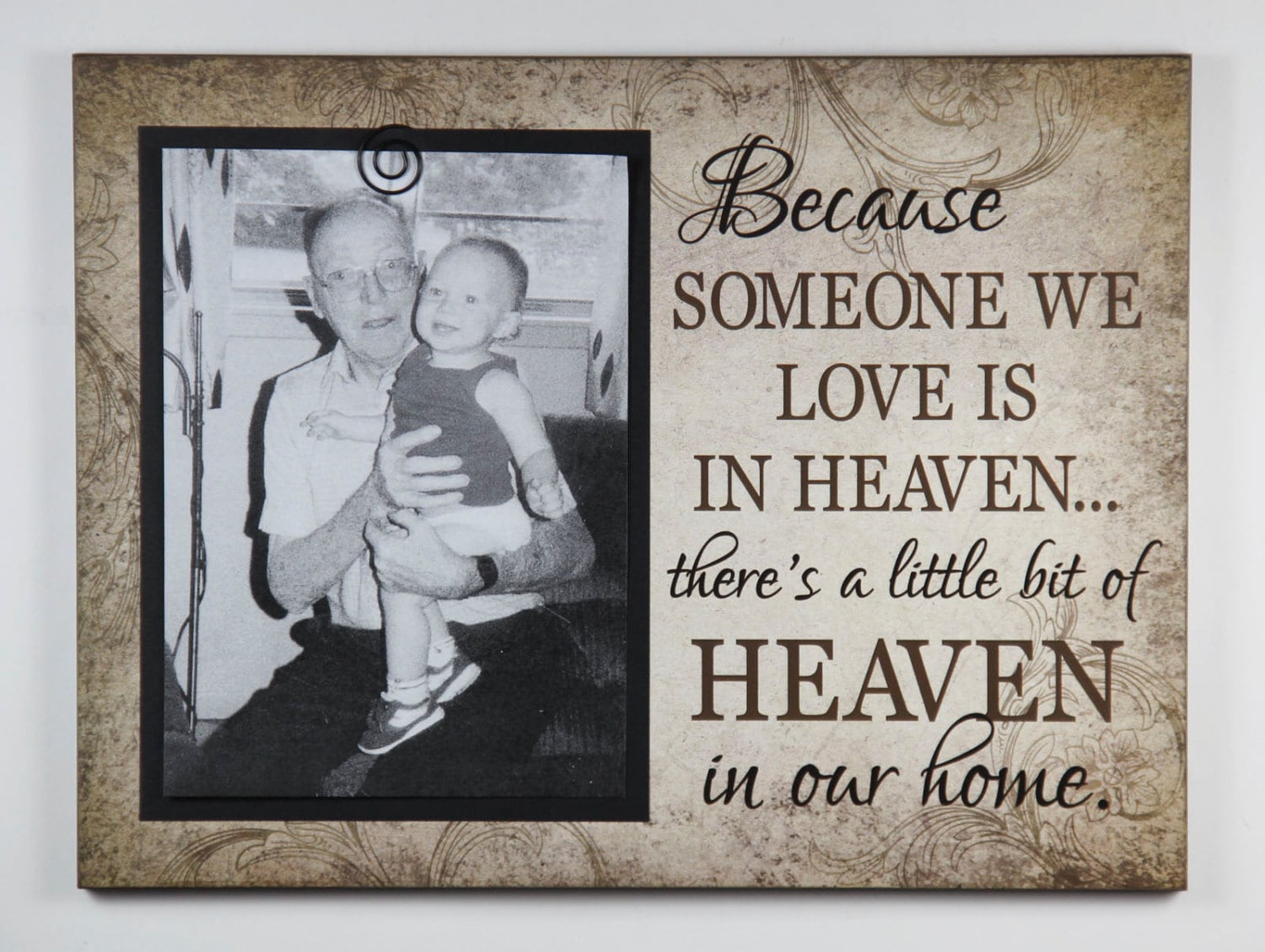 Bereavement Clip Frame Because Someone We Love Is In Heaven Etsy