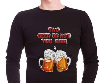 Beer t-shirt/party t-shirt/men longsleeve-Free Shipping Worldwide