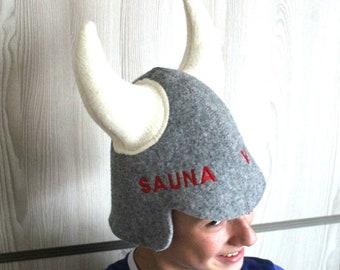 21ac482de3d Wool Hat Birthday gift Viking hat Saunafilzhut