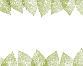 Leafy Border Digital Download