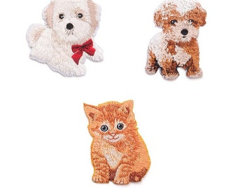 6f637c3a9701 Wholesale bulk lot 60pcs embroidered cat and dog iron on patch about 5-7cm  kids birthday loot bag favor