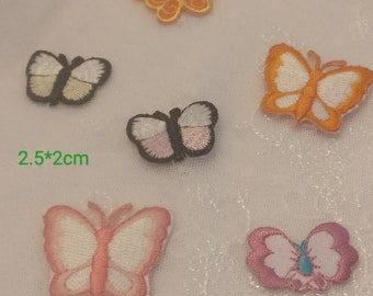 a1e58cba0169 Mixed mini small butterfly colection embroidered iron on patch about  2.5-3.5cm Wholesale bulk lot discount