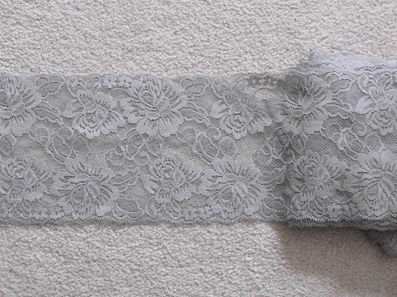 Wholesale bulk lot  20yards   gray  grey   elastic stretch  Lace Trim DIY Sewing dress lingerie  14.5cm 5.5inch