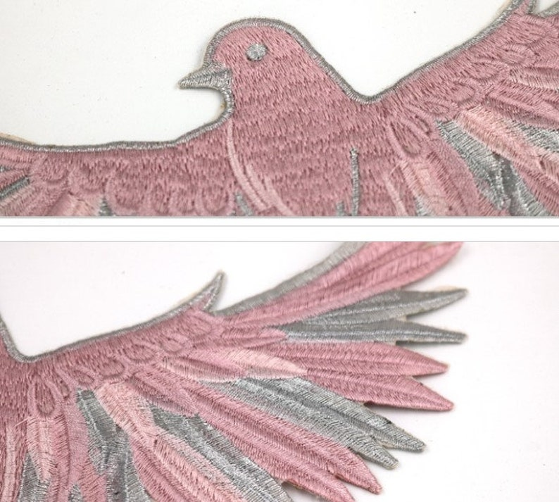 Wholesale bulk lot  10pcs Black white pink Eagle  embroidered  sewing on  patch  shirt