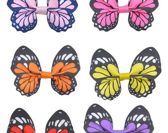 Wholesale Lot  300pcs  butterfly fabric bow   diy sewing gift wrapping decoration