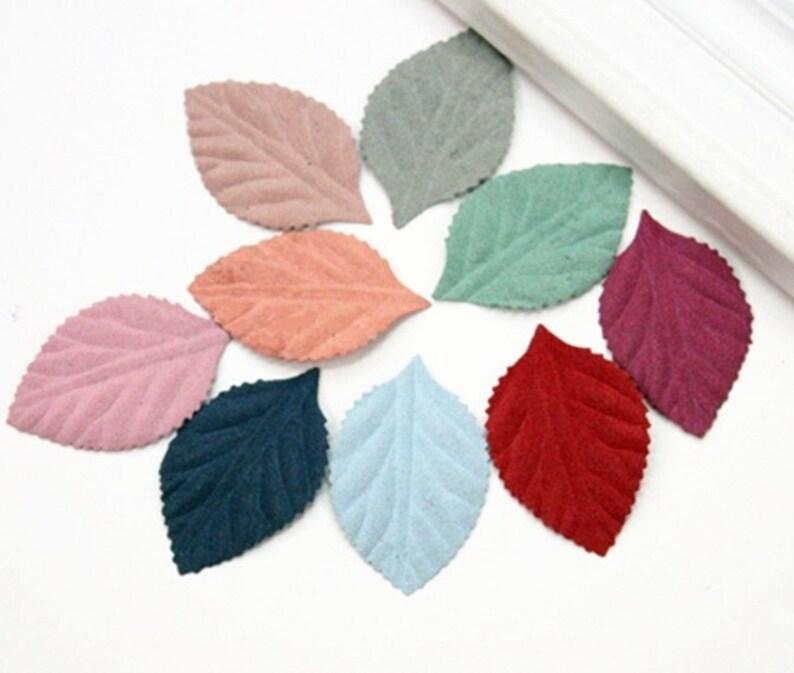 Wholesale bulk lot 600pcs  Non woven fabric leaves   applique patch DIY sewing  apparel 4.5cm  3.5cm