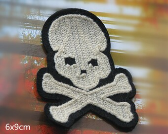 5pcs  embroidered   punk   skull sewing on patch  6*9cm