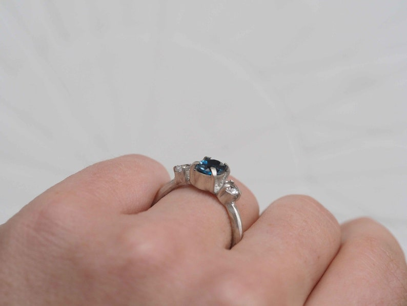 READY TO SHIP  Solid Sterling Silver Triple Topaz Ring  Modern Minimal Contemporary Jewellery  Womans Ring