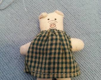 Adorable little pig Christmas ornament
