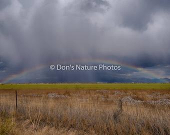 Thunderstorm & Rainbow. Near Del Norte, Colorado. 12 X 18 #2255