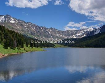 Mountain lake, Fremont Pass, Colorado. 12X18  #3023