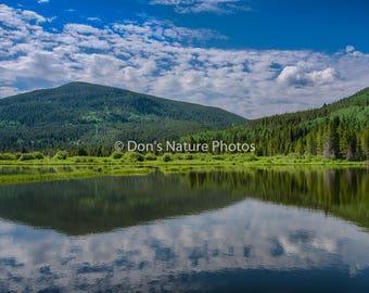 Mountain lake, Camp Hale, Colorado. 12X18  #2256