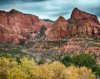 Kolob Canyon, Zion National Park Utah. 12 X 18 #3027