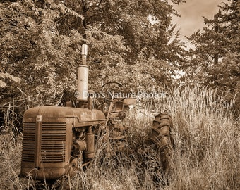 Abandoned Tractor, Missouri, in Sepia. #2259
