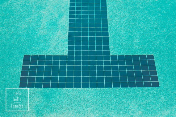 Fine Art Photography Pool Prints Tile Lane Markings On