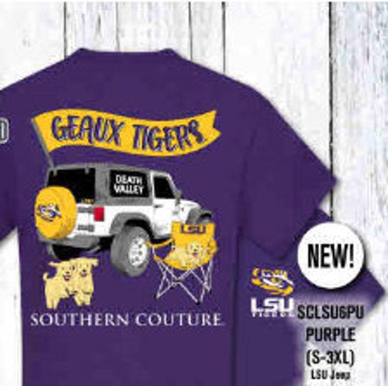 Geaux Tigers Jeep Tshirt