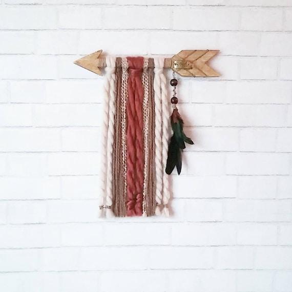 Wood Arrow Wall Hanging / Boho Nursery Decor / Yarn Wall | Etsy