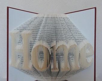Folded Book Art - Home - Unique present