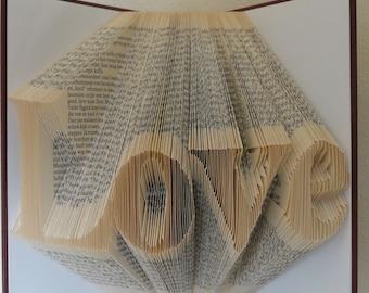 Folded Book Art - Love - Unique present