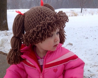 Cabbage Patch Hat - Baby - Crochet