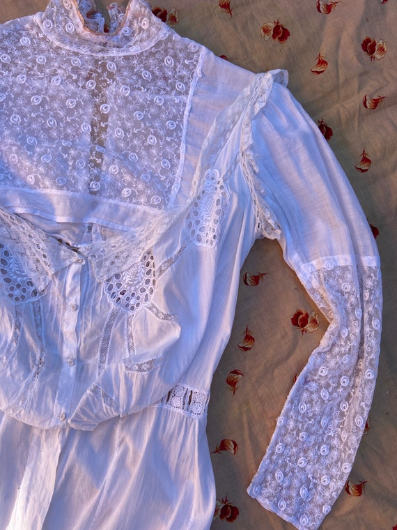 Antique Edwardian Dickie with Sleeves Under Garmen