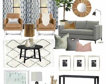 Merveilleux Interior Design Service Customized U0026 Affordable Virtual E Design, E Decor  Service, Moodboard And Product Shopping Guide