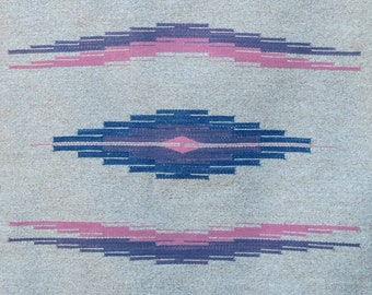 Chimayo style weaving by Valorie Valdez, 30x45 inch handwoven wool using natural dyed yarns, 8222048