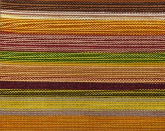 Rio Grande style Rainbow striped weaving by Rudy Lee Valdez, 30x60 inch handwoven with heavy-duty rug weight wool, mixed dyes 12162040