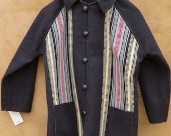 Custom Chimayo coat size 40 handwoven wool lined  3172002