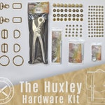 Huxley Bag Hardware Kit // Antique Brass // Nickel Plate // Rapid Rivets Snaps and Setters // Strap Adjuster O Ring D Ring Rectangle Ring