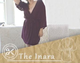 08c33bef5f Women s Robe Sewing Pattern for Women    The Inara    Robe Pattern    Kimono  Women s Sewing Pattern    Pattern for a Robe Kimono