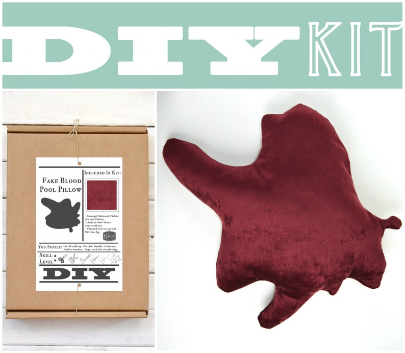 DIY Sewing Kit: Blood Pool Pillow // Make Your Own Blood image 0