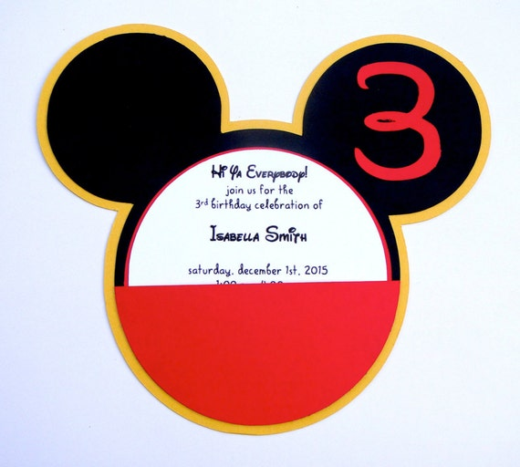 Disney S Mickey Mouse Clubhouse Head Invitation With Etsy