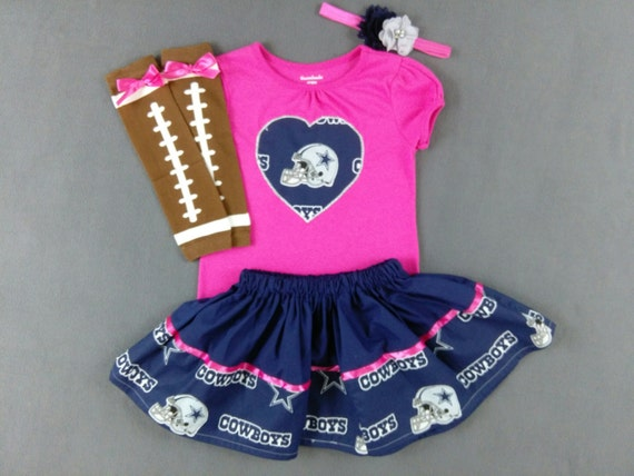 28dfda479 DALLAS COWBOYS INSPIRED Baby girl 4 piece outfit. skirt