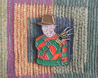 1980's Horror Freddy 80's Gore Film Enamel Lapel Hat Pin
