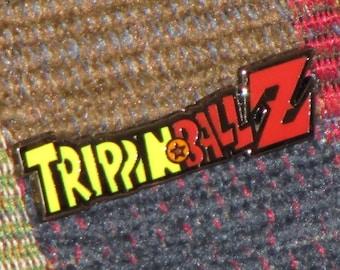 Trippin Ball Z Trippinballz LSD 25 Acid Blotter Art Japanimation Anime Parody Lapel Hat Pin